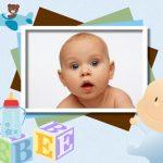 Fotomontaje para nacimiento de bebé
