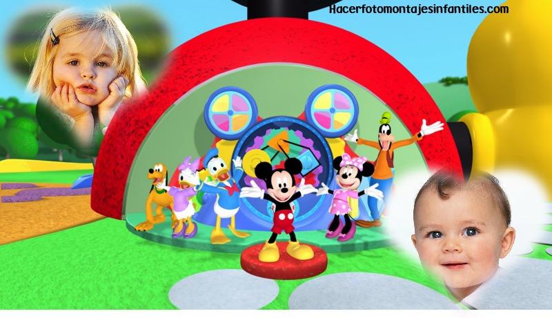 Fotomontaje de Mickey Mouse