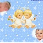 Fotomontaje de ángeles para incluir dos fotos