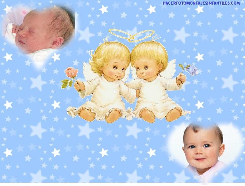 para hoy tenemos preparado un delicado fotomontaje de angelitos para ...