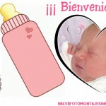 Fotomontaje de nacimiento niñas