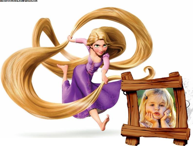 Fotomontaje de rapunzel