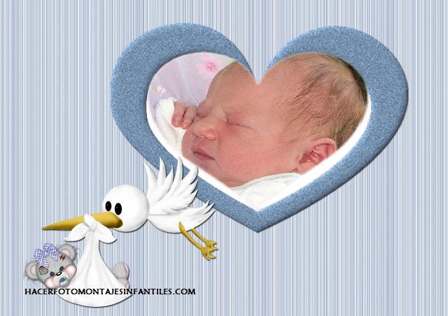 Marco de nacimiento para fotos