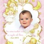 Fotomontaje de Bautismo con ángeles