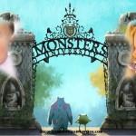 Montaje de Monster University para dos fotos
