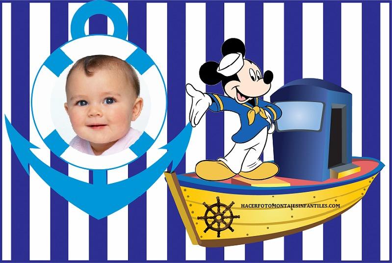 Marinero Cumple Anos De Mickey