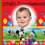Fotomontaje de Cumpleaños con Mickey y Donald