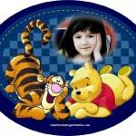 Fotomontaje de Pooh y Tiger