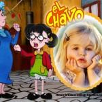 Fotomontaje de La Chilindrina y Doña Cleotilde