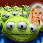 Fotomontaje de marcianitos Toy Story