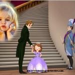 Fotomontaje de Sofía con el Rey Roland