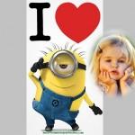 Fotomontaje de minion enamorado