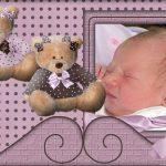 Fotomontaje infantil con dos peluches