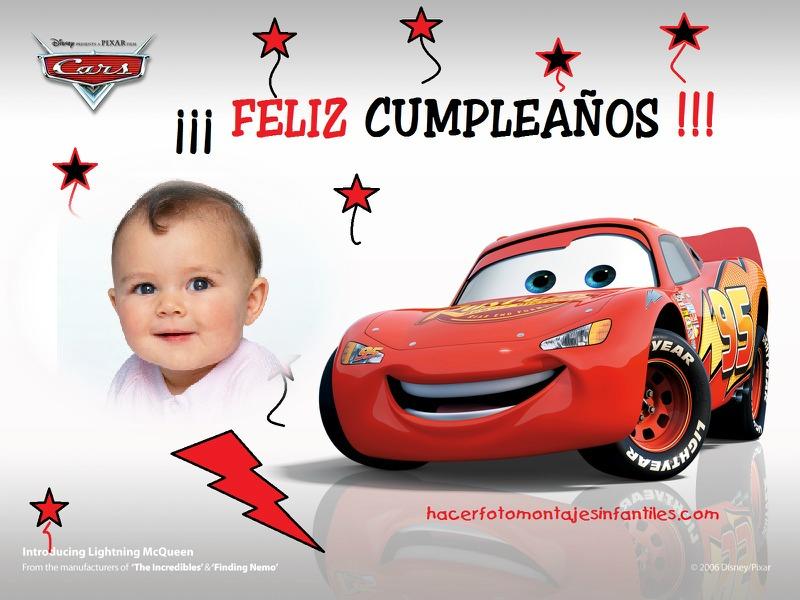 Fotomontaje de Cumpleaños con Rayo McQueen | Fotomontajes infantiles