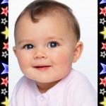 Fotomontaje infantil con estrellitas