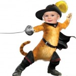 Divertido fotomontaje de Gato con Botas