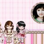 Fotomontaje para niñas con muñequitas