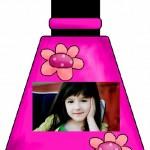 Fotomontaje infantil de esmalte de uñas
