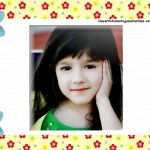 Fotomontaje infantil con abejitas