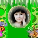 Fotomontaje infantil con animalitos