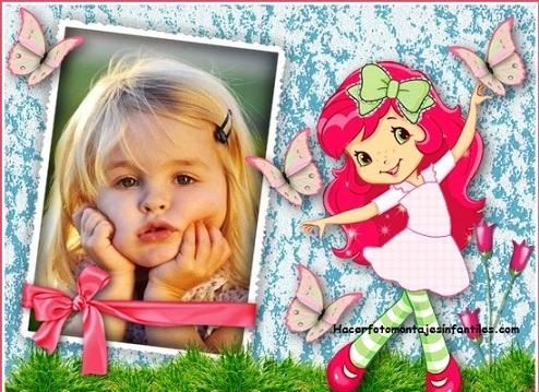 Worksheet. Fotomontaje infantil de Frutillita  Fotomontajes infantiles