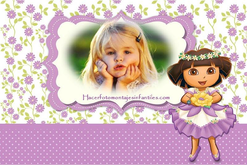 Fotomontajes de Dora la Exploradora | Fotomontajes infantiles