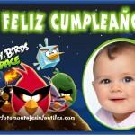 Fotomontaje de Cumpleaños con Angry Birds