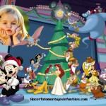 Fotomontaje de Navidad con personajes de Disney
