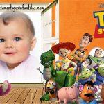 Fotomontaje con los personajes de Toy Story