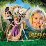 Fotomontaje de Rapunzel y Flynn