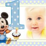 Fotomontaje de Mickey Baby para primer cumpleaños