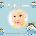 Fotomontaje con ángeles para Bautismo nenes