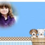 Fotomontaje con tiernos perritos