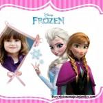 Fotomontaje de Frozen con Elsa y Anna
