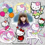 Fotomontaje infantil de Hello Kitty