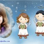 Fotomontaje con angelitos bebés