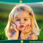 Fotomontaje de marco verde y estrellitas