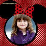 Fotomontaje con orejitas y moño de Minnie Mouse