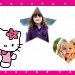 Fotomontaje de Hello Kitty para dos fotos