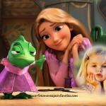 Fotomontaje gratis de Rapunzel y Pascal