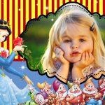 Fotomontaje de Blancanieves y los siete enanitos