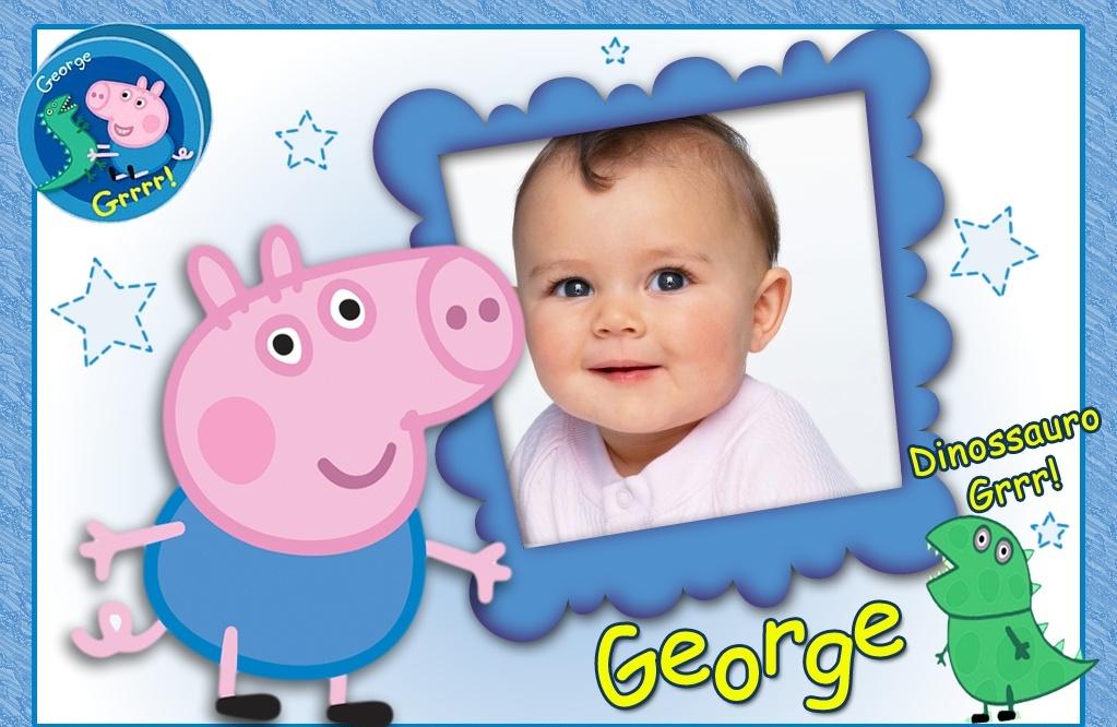 fotomontaje de george pig fotomontajes infantiles