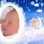 Fotomontaje de ángelito para las fotos de tu bebé