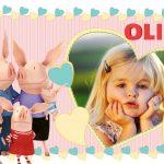 Fotomontaje infantil de Olivia cerdita