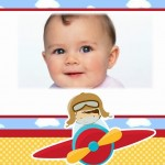 Fotomontaje de pequeño aviador