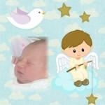 Fotomontaje con angelito para bebés