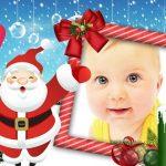 Fotomontaje infantil de Papa Noel gratis