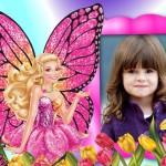 Marco de Barbie Mariposa para foto