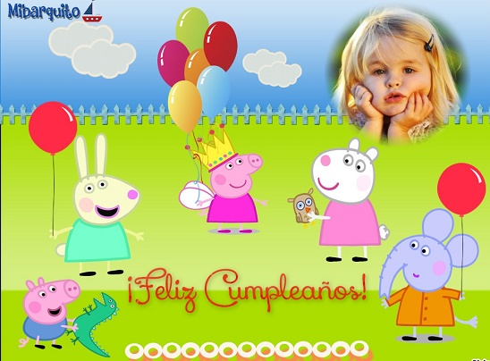 Marcos de Cumpleaños de Peppa Pig