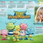 Fotomontaje de Calendario 2016 de Henry Monstruito Feliz